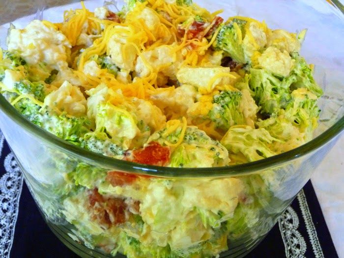 AMISH BROCCOLI SALAD     This delightful salad with my own tweaks lends itself to some wonderful ideas for variations, so be sure...