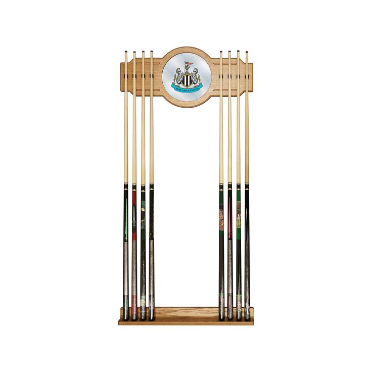 Newcastle United FC Cue Rack with Mirror, Multicolor