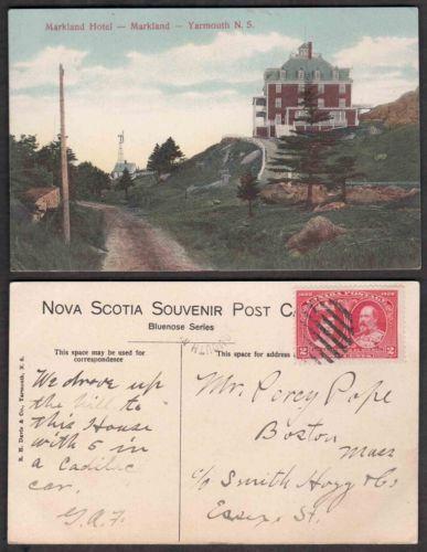 Old Canada Postcard - Markland Hotel - Yarmouth, Nova Scotia