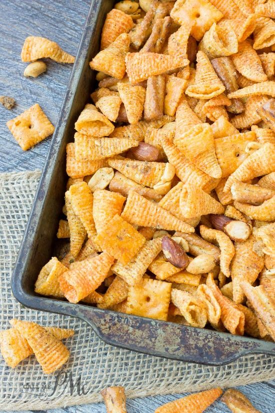 Boy Scout Snack Mix recipe is crunchy, spicy and completely irresistible. It's great for snacking on while camping and makes a great gift during the holidays.