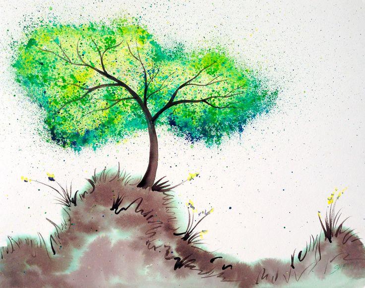 Bella's wishing tree Splatter art tutorial CRAYOLA ...
