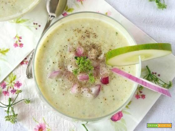 Gazpacho verde con soia e coriandolo  #ricette #food #recipes