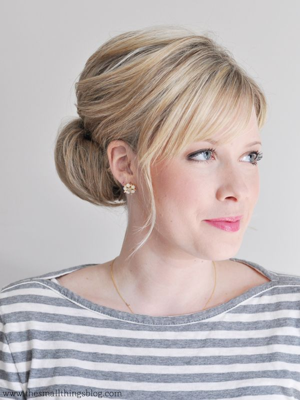 Interview hair-The Small Things Blog: Low Chignon Hair Tutorial