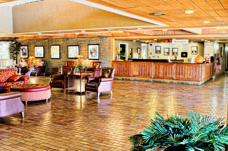 Front Desk and Lobby of the Palm Springs Tennis Club Resort