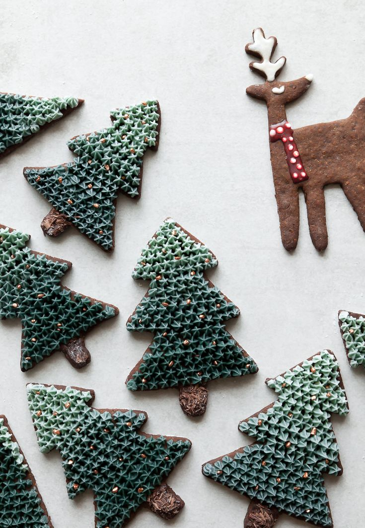 Gingerbread Cookies with Ombre Buttercream