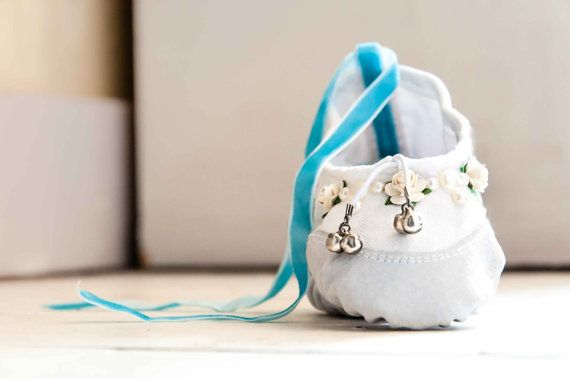 Bells on her Toes Flowers and Pearls White  by BibandTuckerUK