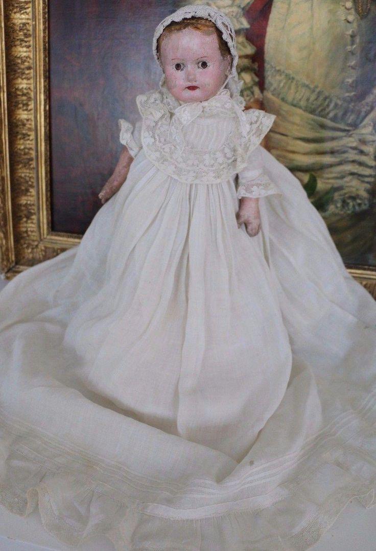"""Antique Alabama Baby Doll, 14.5"""", Antique Cloth Doll, Ella Smith Indestructible"""