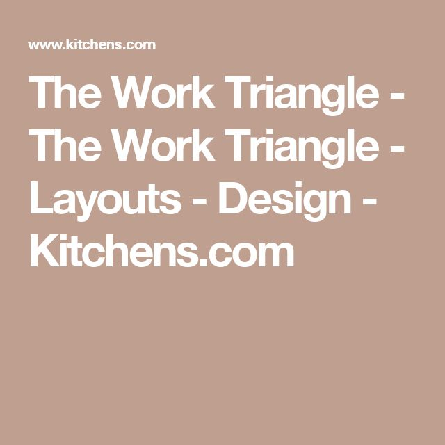 The Work Triangle - The Work Triangle - Layouts - Design - Kitchens.com