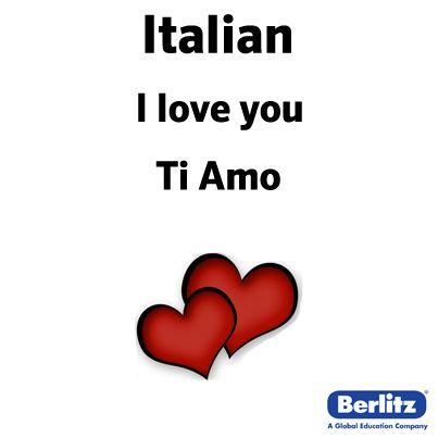 How to say love u in italian