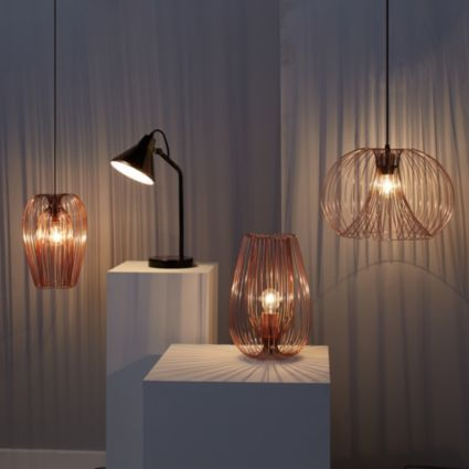 234 best lighting images on pinterest light fixtures buffet lamps jonas 1 lamp copper wire pendant ceiling light departments diy at bq greentooth Images
