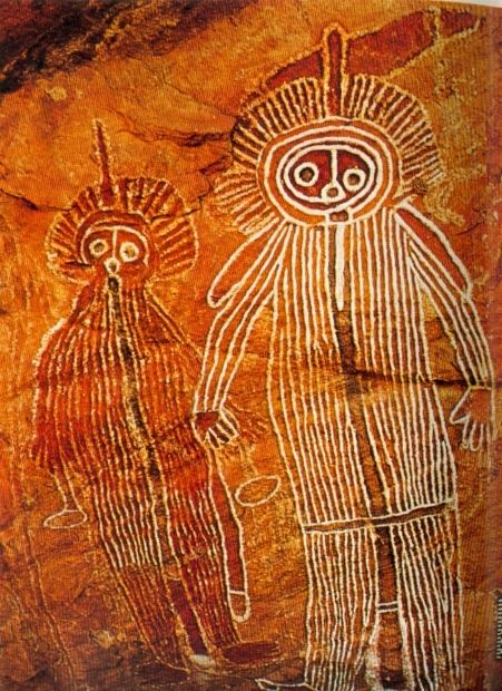 Australia rock painting