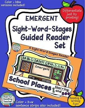 Sight-Word-Stages Emergent Reader Set: School Places (Level 1) #SWS #NewProductAlert On Sale until June 17!