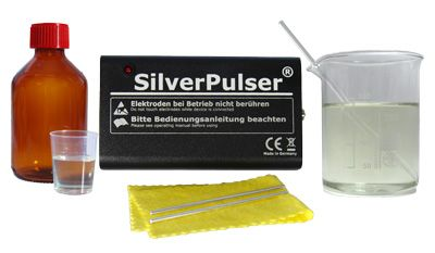 Kolloidales Silber Silberwasser selbst herstellen Silbergenerator SilverPulser® Silber Pulser Ionic Colloidal Silver Pulser | www.SilverPulser.de