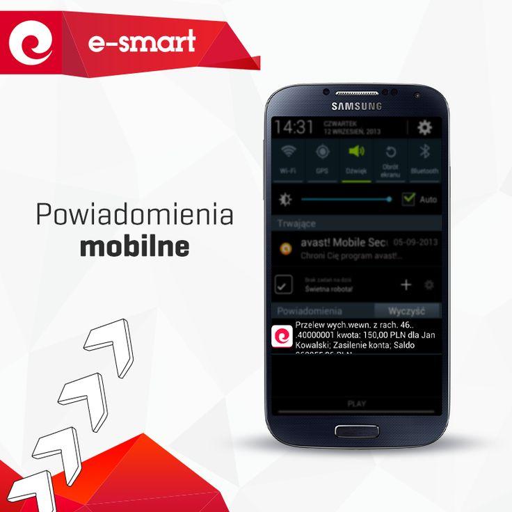 aplikacja mobilna eurobanku - powiadomienia mobilne