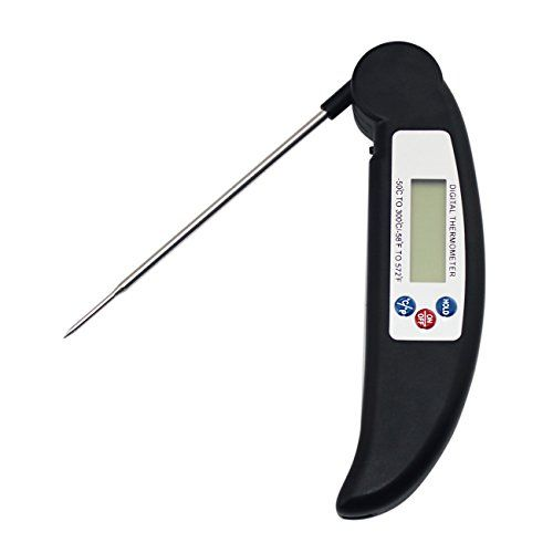 nice Digital Instant Read Thermometer, SySrion® Cooking Barbecue Meat Thermometer Electronic BBQ Thermometer with Collapsible Internal Probe - [Fast & Auto On/Off]