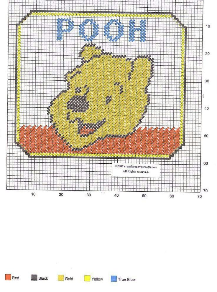 plastic canvas craft ideas winnie the pooh mousepad by creativecanvascrafts 5215