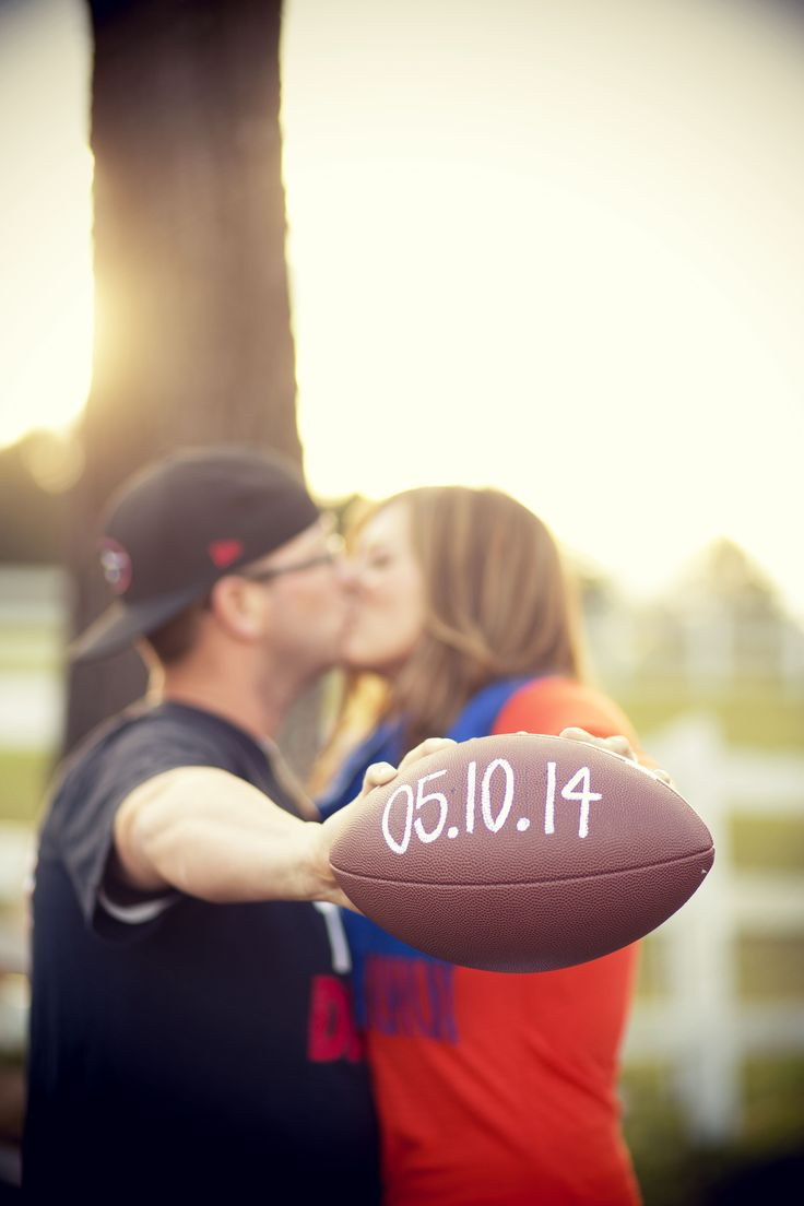Football save the date. Photography: Kelly Anne Photography - kellyannephoto.com/