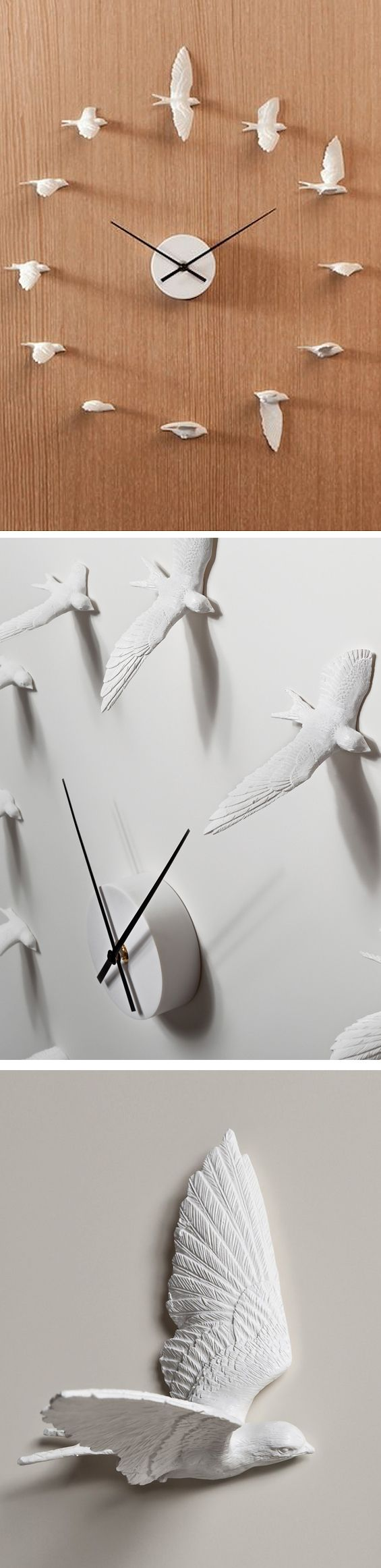 Birds In Flight Clock. Reminds me of my wedding (the lladro bird comb I wore and the cufflinks he wore)