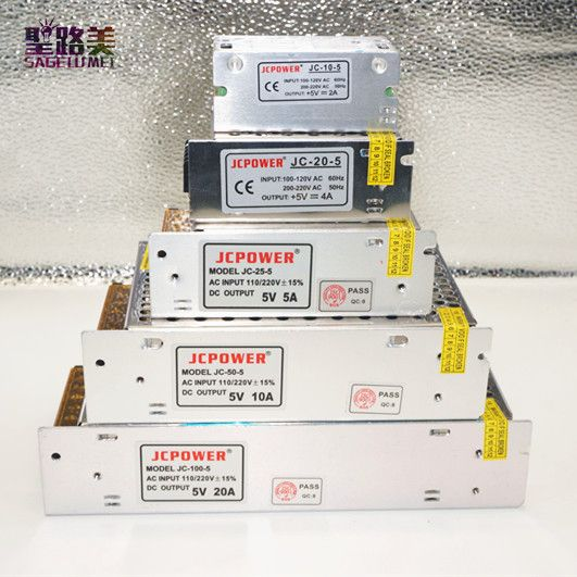 AC110v-220v DC5V 2A 3A 4A 5A 6A 8A 10A 12A 20A 30A 40A 60A regulada unidad de potencia LED iluminación transformador electrónico