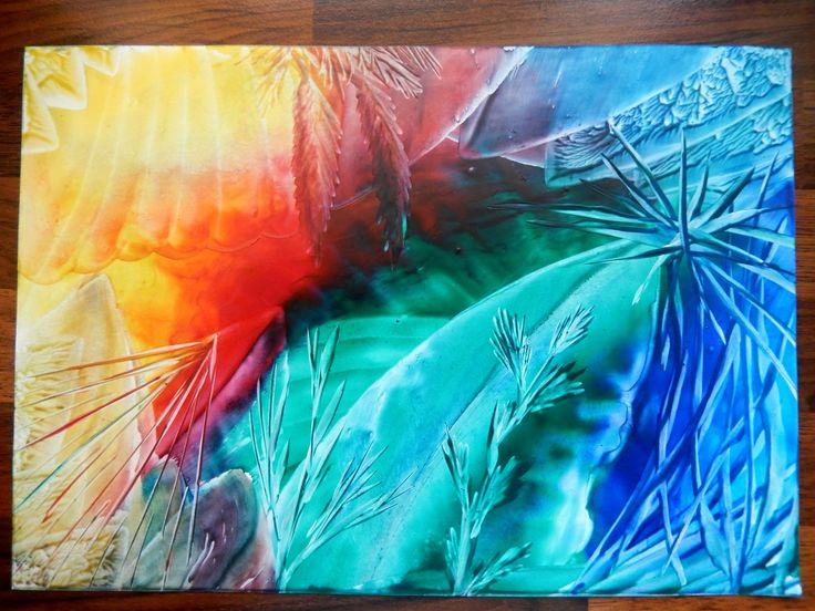 Hrátky s barvami I, enkaustika