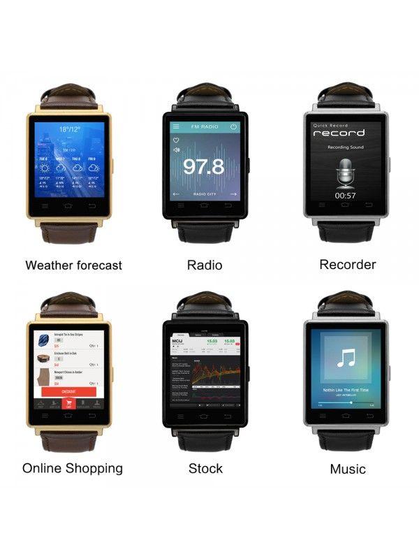 NO.1 D6 3G Smart Watch Phone (Silver)