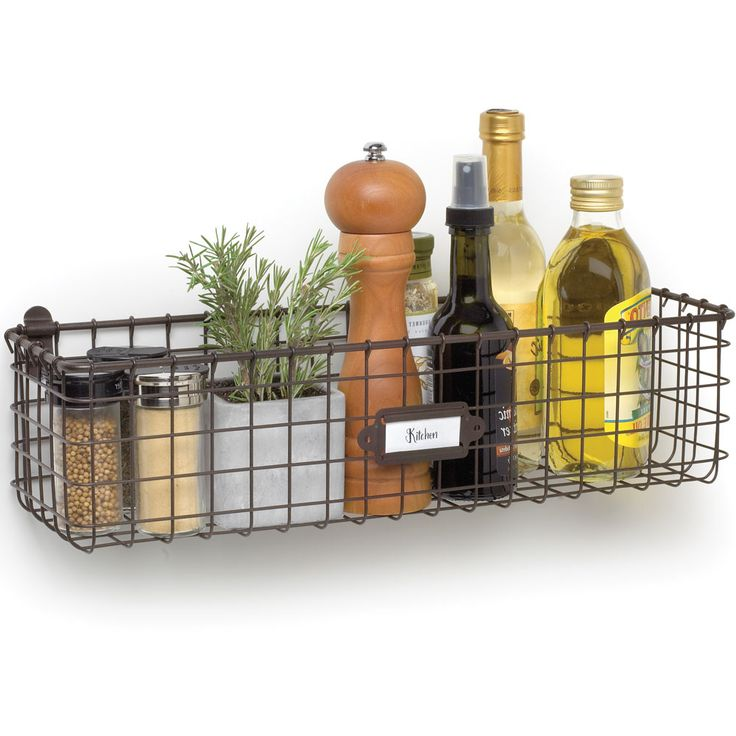 Keep supplies stored on the wall or decorations displayed to the room with this Vintage Wall Mounted Wire Basket.