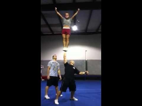 Alabama cheerleaders stunting