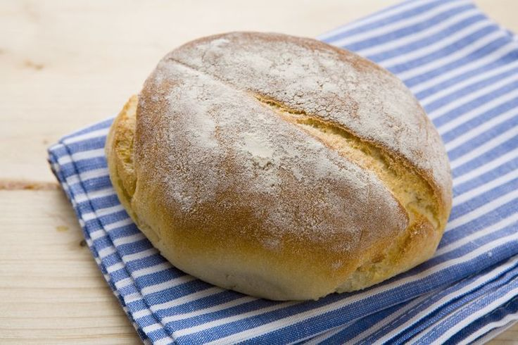Traditional Round Polish Potato Bread Made With Mashed Potatoes