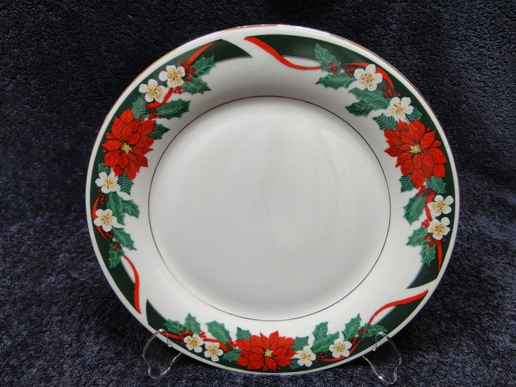 Tienshan Deck the Halls Dinner Plate 10 5/8  Christmas Poinsettia Multi Avail & 23 best Tienshan China images on Pinterest | Ceramica Cutlery and ...