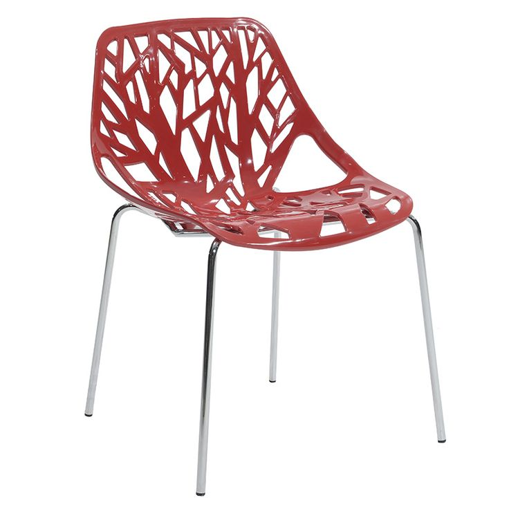 Propylene chair Mare red