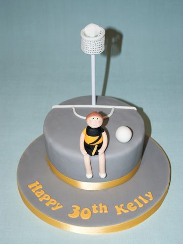 Netball theme cake - Beach House Bakery - cakes  cupcakes Bristol  The West Country