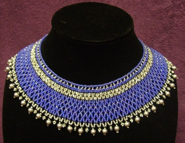 Blue and silver collar  necklace  www.facebook.com/teristreasures