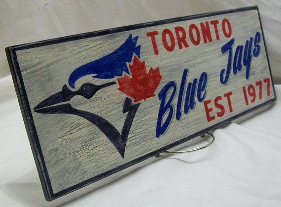 Toronto Blue Jays wall sign distressed, $37.21, from RTVintageSigns at Etsy Pop Up Marketplace in Toronto in September 2016