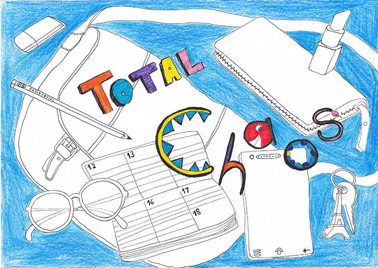 -Draw what's in your bag-  30min sketch with pencils for #28tomake challenge created by creativelive.