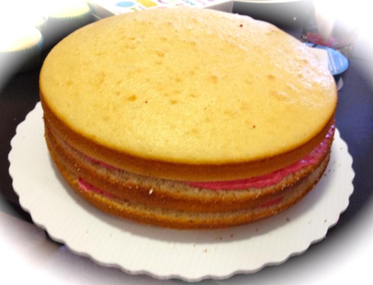Raspberry Mousse Cake filling