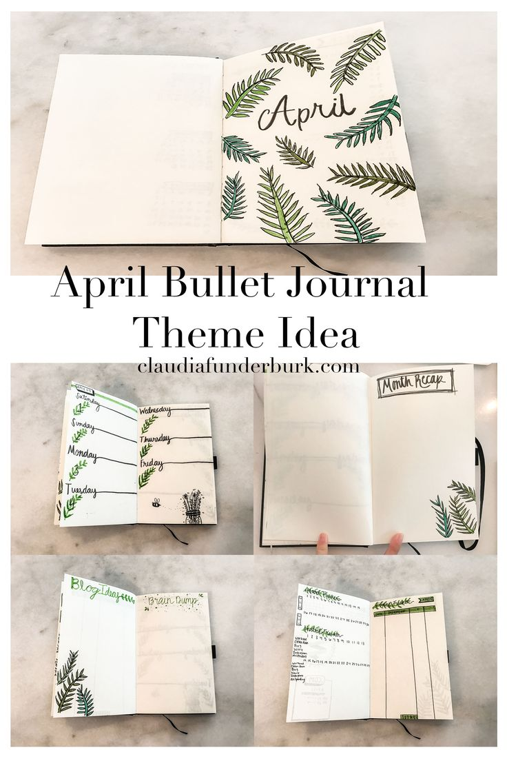 april bullet journal theme idea do it. Black Bedroom Furniture Sets. Home Design Ideas