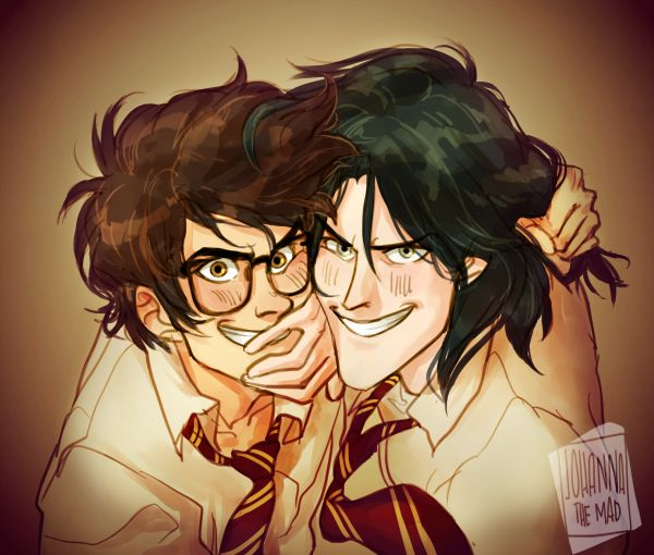 James Potter and Sirus Black by johannathemad via tumblr. This is pretty cool but I wonder why does James look a little crazed.