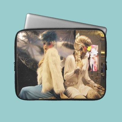 Fashion Electronics Bag Computer Sleeve with two elegant ladies