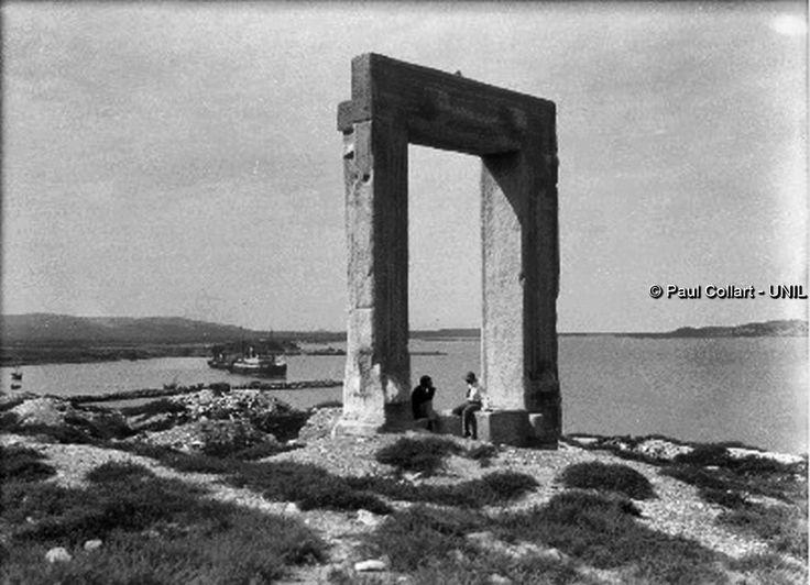 Νάξος, ο ναός του Απόλλωνος στο νησάκι Παλάτια. Paul Collart 1926 έως 1938. L'espace audiovisuel et multimédia de l'Université de Lausanne