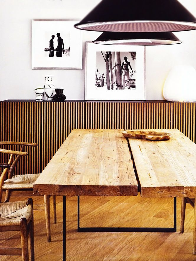 Great Wood Dining Table Design great glass and wood dining table Great Wood Table And Sideboard With Black Pendant Lights In The Dining Room Design Idea For A Similar Dining Table