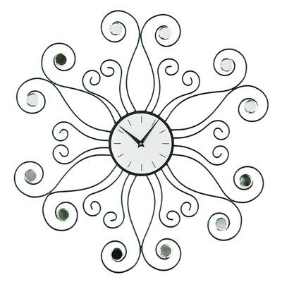 Premier Housewares Symbia Wall Clock with Clear Diamante | Wayfair UK