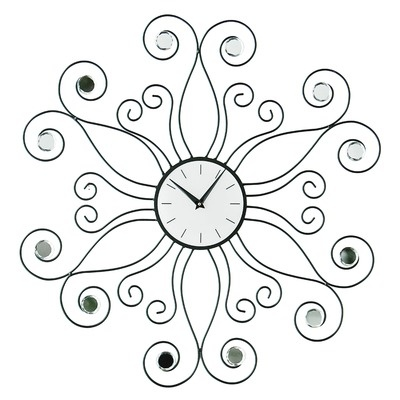 Premier Housewares Symbia Wall Clock with Clear Diamante | Wayfair UK