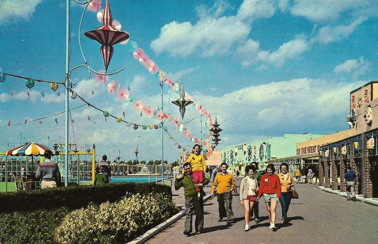 The Promenade at Butlin's Skegness Holiday Camp in 1967...