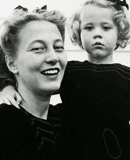 Frances Ford Seymour, Henry Fonda's wife, and her daughter Jane.