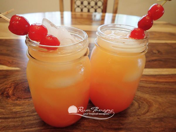 Coconut Rum Punch - copyright Rum Therapy