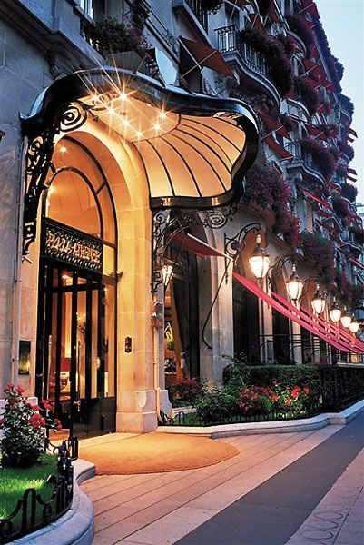 Hotel Plaza Athenee, Paris, built in 1911 Photo by Eric Laignel.