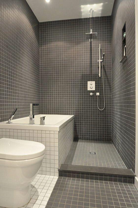 Oltre 25 fantastiche idee su piccoli bagni moderni su pinterest bagni con doccia e piccoli - Badkamer deco model ...