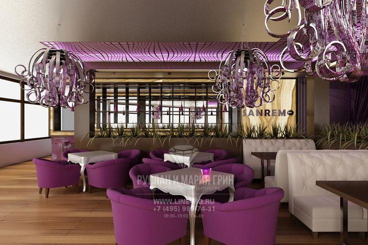 Интерьер диванной зоны    http://www.line-mg.ru/portfolio/dizayn-restorana-v-kurkino