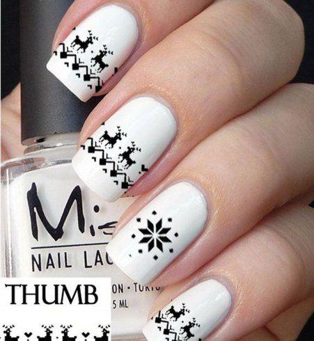 Les sweater nails noirs et blancs