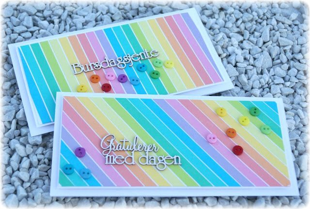 Mitt Lille Papirverksted: Birthday Card in the Color of the Rainbow